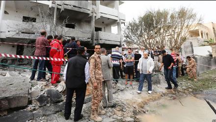 french embassy in libya destroyed 2013