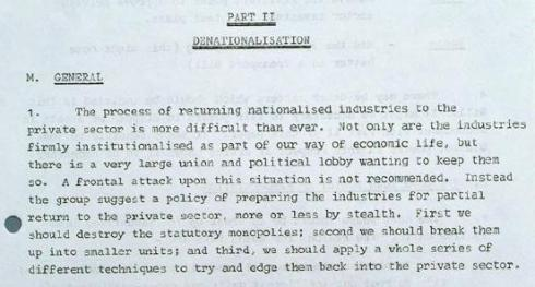 1977 denationalisation ridley report