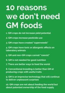 10 reasons no GM food cover