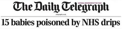 telegraph headlines baby drips