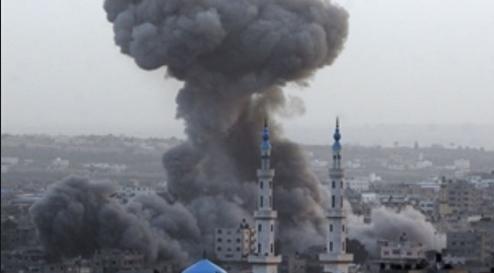 palestine bombed
