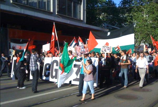 swiss gaza demo