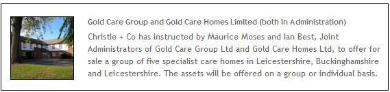 Gold Care in admin