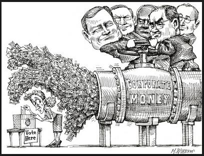occupy wall st cartoon corp money