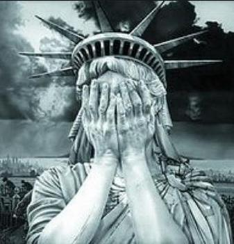statue liberty covers eyes