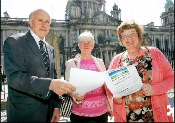 FFA co-ordinator William Taylor pictured above with Belfast shoppers