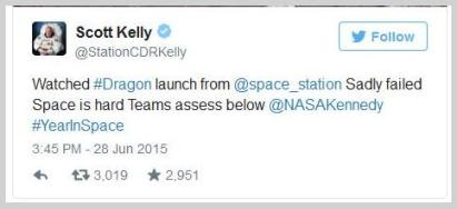 astronaut tweet