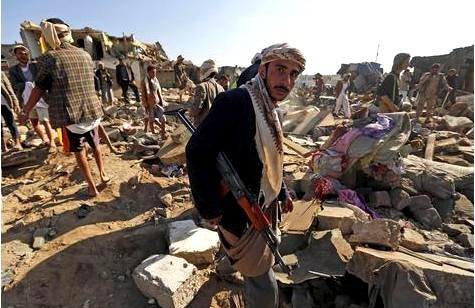The Saudi regime is killing thousands and destroying key infrastructure in Yemen - in order to 'protect' it.