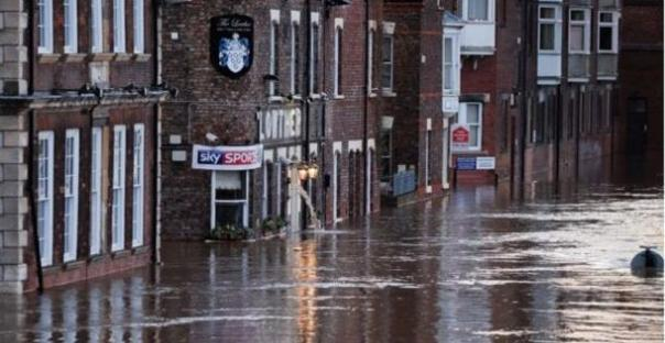 flooded business in york